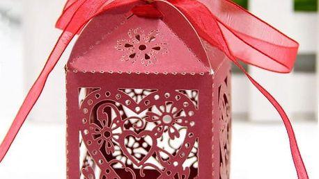Skládací dekorativní krabička - 50 kusů