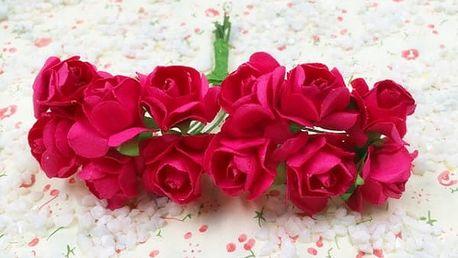 Umělé dekorační růže - 144 ks / 14 barev
