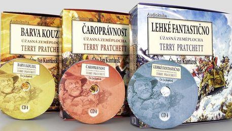 Série prvních tří audioknih Terry Pratchetta na CD