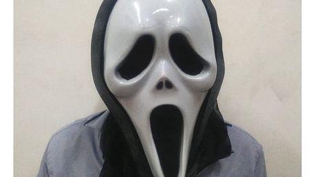 Strašidelná halloweenská maska