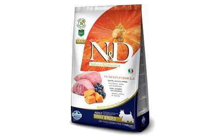 Granule N&D Grain Free Pumpkin DOG Adult Mini Lamb & Blueberry 2,5kg + Antiparazitní obojek za zvýhodněnou cenu