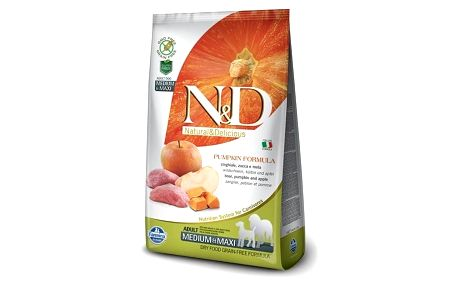 Granule N&D Grain Free Pumpkin DOG Adult M/L Boar & Apple 2,5kg + Antiparazitní obojek za zvýhodněnou cenu