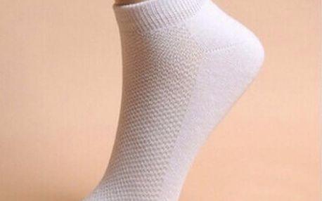 Sada 10-ti párů bílých ponožek pro ženy