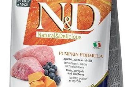 Granule N&D Grain Free Pumpkin DOG Adult M/L Lamb & Blueberry 2,5kg + Antiparazitní obojek za zvýhodněnou cenu