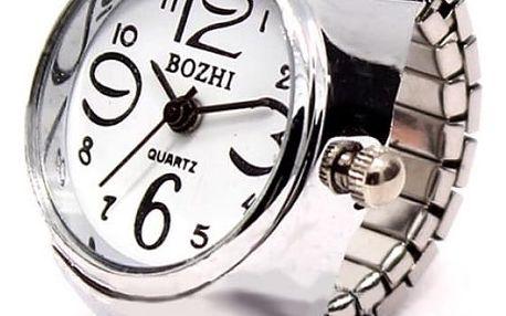Prstýnkové hodinky s mohutným ciferníkem - dodání do 2 dnů