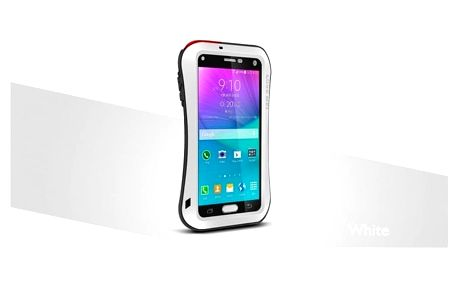 Love Mei Case pouzdro Small Waist Upgrade Version for GALAXY NOTE4 White - LMC/0315