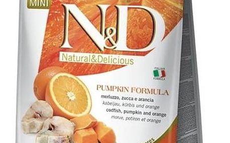 Granule N&D Grain Free Pumpkin DOG Adult Mini Codfish & Orange 2,5kg + Antiparazitní obojek za zvýhodněnou cenu