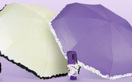 Puntíkované skládací deštníky do kabelky