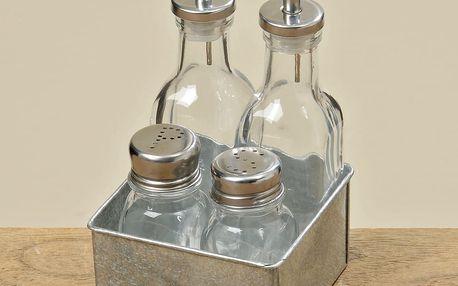 Stojan s nádobami na olej, ocet, pepř a sůl Boltze Eden