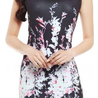 Elegantní dámské šaty se vzorem - mix barev