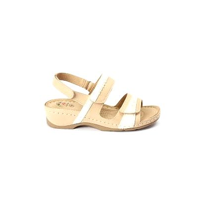 Dámské zdravotní sandále koka 2 béžová/bílá