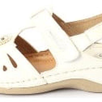 Dámské zdravotní sandále koka 3 bílá