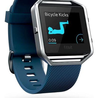 Chytré hodinky Fitbit Blaze L - modrá