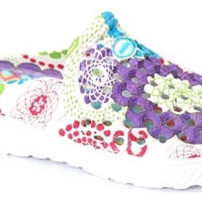 Kvalitní dámské gumové pantofle FLOWER PURPLE