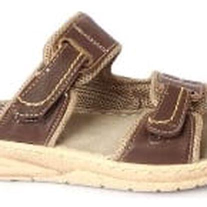 Dámské pantofle MIKOMI hnědé