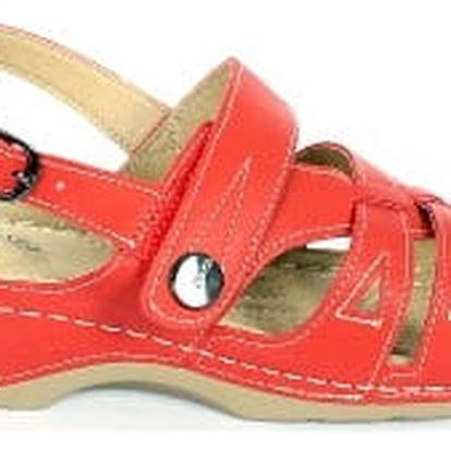 Dámské zdravotní sandále koka 5 červená