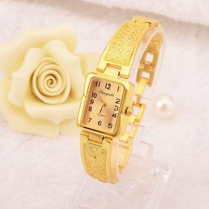 Dámské náramkové hodinky s úzkým zdobeným páskem - dodání do 2 dnů