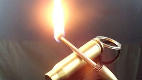 Klíčenka na rozdělání ohně v podobě náboje