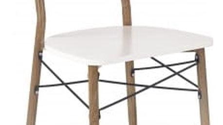 K223 - Jídelní židle (bílá, dub medový)