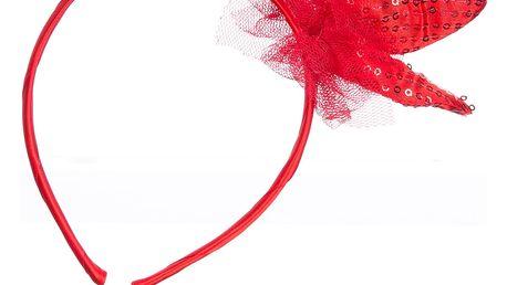 Dětská čelenka s flitrovou mašlí