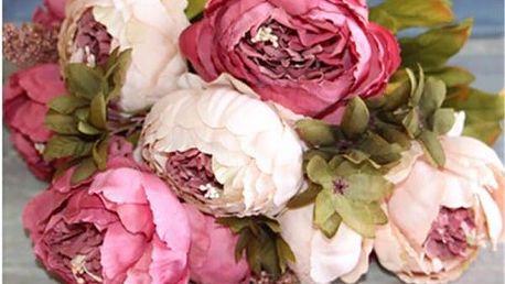 Umělá dekorativní kytice - 5 barev