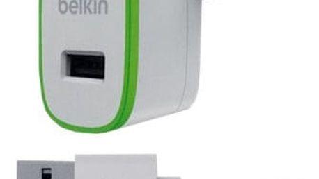 Belkin micro nabíječka 230V/5V, 2,4A + Lightning kabel, bílá - F8J125vf04-WHT