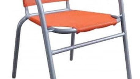 Ocelové křesílko textilen (oranžová)