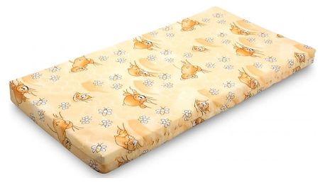 Matrace dětská, pěnová, 120x60x7 cm (bavlněné)