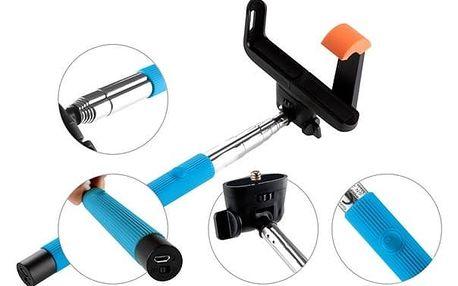 GoGEN 2 Selfie tyč teleskopická, bluetooth, modrá - GOGBTSELFIE2BL