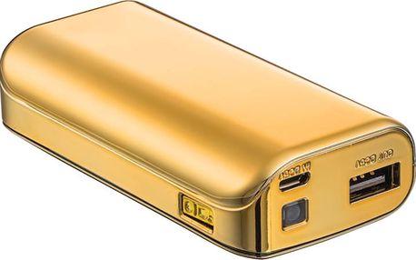 Trust Přenosný záložní zdroj 4400mAh Portable, zlatá - 20901