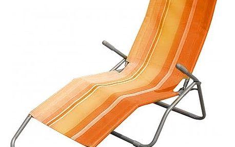 Plážové lehátko (oranžový pruh)