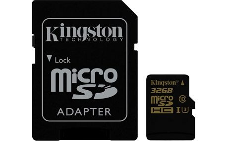 Kingston Micro SDHC 32GB UHS-I U3 + SD adaptér - SDCG/32GB