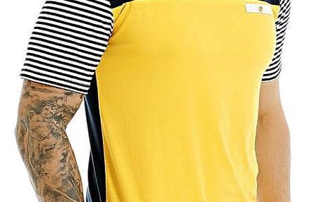 Pánské triko s krátkými pruhovanými rukávy