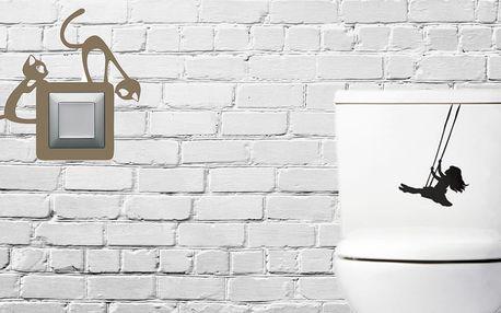 Výběr samolepek na vypínače a WC v hodnotě 400 Kč