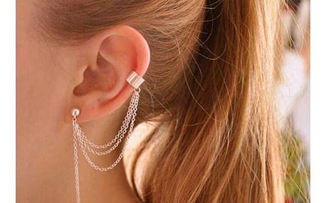 Náušnice s řetízkem na jedno ucho