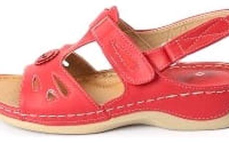 Dámské zdravotní sandále koka 3 červená