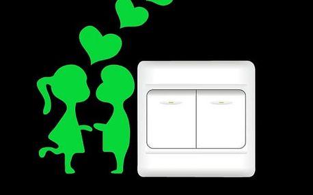 Fluorescenční nálepky k vypínači - 3 varianty