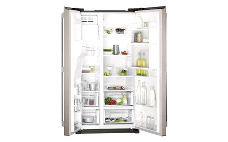 Kombinace chladničky s mrazničkou AEG S66090XNS1 šedá/nerez + Doprava zdarma