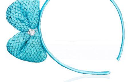 Dětská čelenka s mašli a krystalkem
