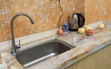 Voděodolná mozaiková dekorace - 45 x 200 cm - oranžová - dodání do 2 dnů