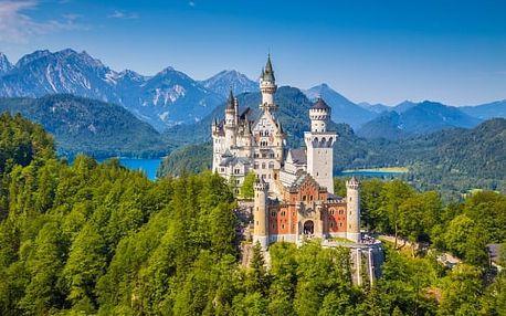 Výlet do Bavorska pro 1 osobu na zámky, jezera, soutěsky