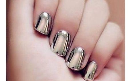 Třpytivý prášek na nehty - zrcadlový efekt