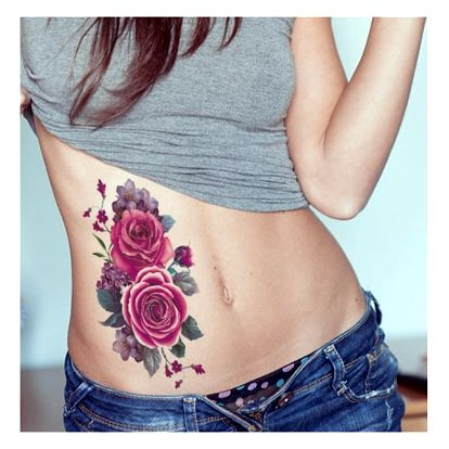 Dočasné tetování - květinové vzory