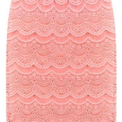 Elegantní krajkovaná sukně ve všech velikostech - 4 barvy