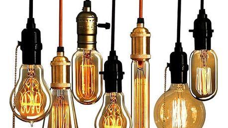 Retro Edisonovy žárovky s mnoha tvary