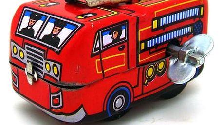Retro natahovací hračka - hasičské vozidlo