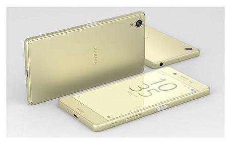Mobilní telefon Sony Xperia X (F5121) - Lime Gold (1303-0695) Voucher na skin Skinzone pro Mobil CZSoftware F-Secure SAFE 6 měsíců pro 3 zařízení (zdarma) + Doprava zdarma