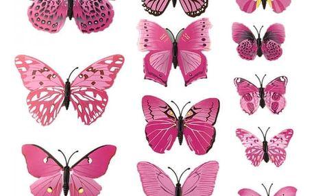 Dekorativní nalepovací motýlci - více barev