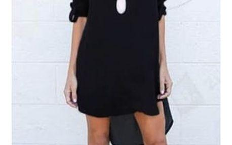 Lehké dámské šaty s dlouhým rukávem - 4 barvy