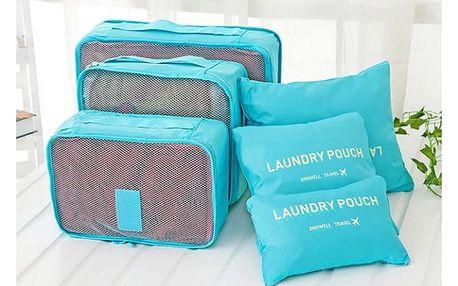 Praktické cestovní tašky a organizéry 6 ks